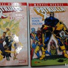 Cómics: LOTE 2 TOMOS PATRULLA X-HIJOS DEL ATOMO Y LA SAGA DE FENIX -MARVEL HEROES-TOMO-PANINI. Lote 272199228