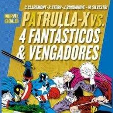 Cómics: PATRULLA-X VS. 4 FANTÁSTICOS Y VENGADORES - MARVEL GOLD - CLAREMONT STERN SILVESTRI BOGDANOVE. Lote 275080038