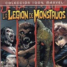Cómics: COLECCION 100% MARVEL - LA LEGION DE MONSTRUOS - MORBIUS HOMBRE LOBO HOMBRE COSA SATANA - PANINI #. Lote 276814648