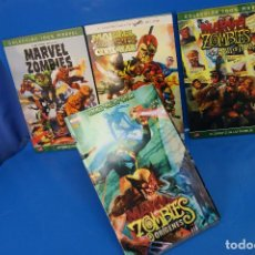 Cómics: COMICS. 4 MARVEL ZOMBIES: ORÍGENES, HAMBRE INSACIABLE, EL EJÉRCITO DE LAS TINIEBLAS Y CIVIL WAR.. Lote 277263763