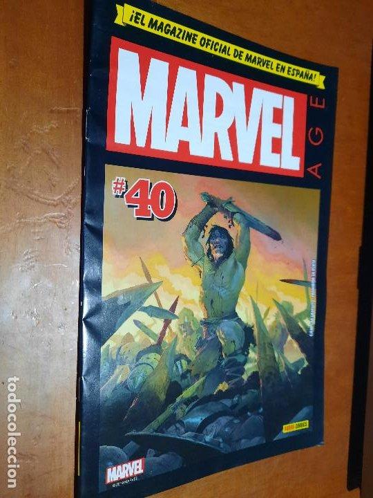 MARVEL AGE 40. EL MAGAZINE OFICINA DE MARVEL EN ESPAÑA. GRAPA. BUEN ESTADO (Tebeos y Comics - Panini - Marvel Comic)