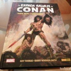 Cómics: CONAN BIBLIOTECA CONAN 1 CLAVOS ROJOS Y OTROS RELATOS BARRY WINDSOR SMITH ED PANINI. Lote 278923468
