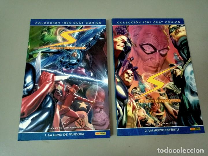 PROJECT SUPERPOWER 1 Y 2, DE ALEX ROSS Y JIM KRUEGER (100 % CULT PANINI) (Tebeos y Comics - Panini - Marvel Comic)