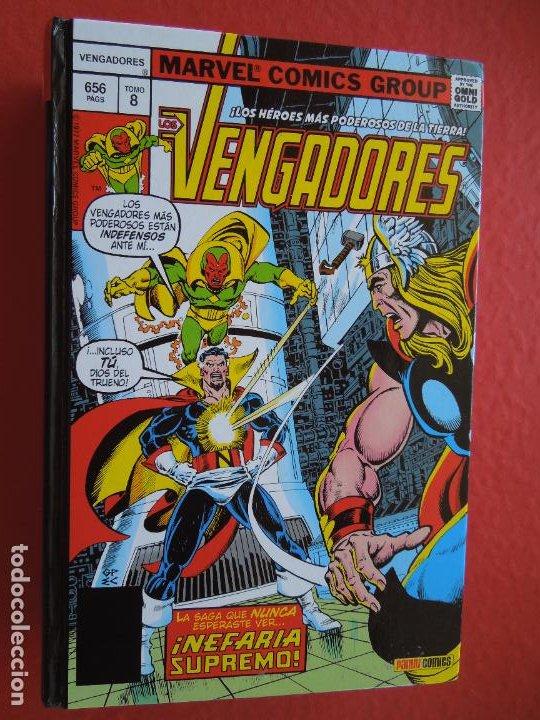 LOS VENGADORES !NEFARIA SUPREMO! TOMO 8 - PASTA DURA - 656 PAG - MARVEL COMICS (Tebeos y Comics - Panini - Marvel Comic)