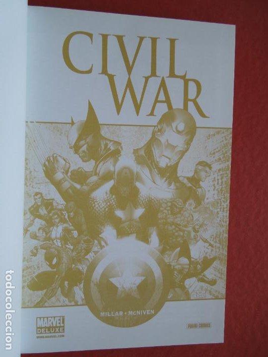Cómics: CIVIL WAR - MILLAR -MCNIVEN - MARVEL DE LUXE PANINI COMIC - Foto 5 - 287836863