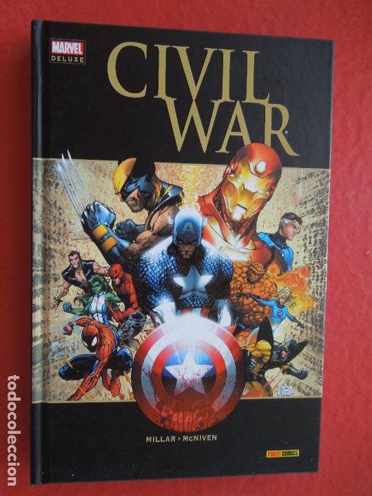 CIVIL WAR - MILLAR -MCNIVEN - MARVEL DE LUXE PANINI COMIC (Tebeos y Comics - Panini - Marvel Comic)