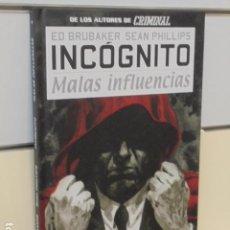 Cómics: INCOGNITO Nº 2 MALAS INFLUENCIAS ED BRUBAKER TOMO CARTONÉ - PANINI OFERTA. Lote 288091143