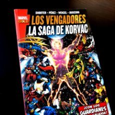 Cómics: EXCELENTE ESTADO LOS VENGADORES LA SAGA DE KORVAC COMICS PANINI MARVEL. Lote 288475638