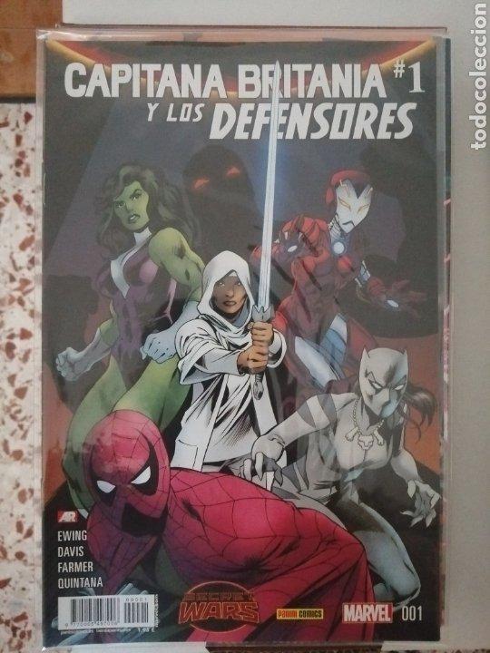 MARVEL CAPITANA BRITÁNICA Y LOS DEFENSORES. SECRET WARS (Tebeos y Comics - Panini - Marvel Comic)