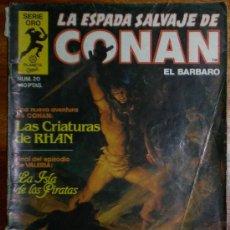 Cómics: LA ESPADA SALVAJE DE CONAN EL BARBARO. SERIE ORO NUM. 20. PLANETA COMIC 1982. Lote 25983207