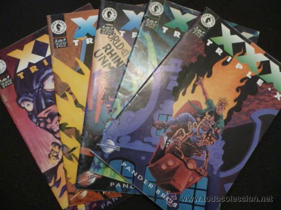 TRIPLE X. LOTE DE 5 NÚMEROS (DE 7) (Tebeos y Comics - Planeta)