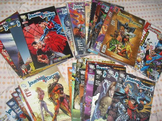 LOTE JÓVENES TITANES COMPLETA VOL 1 2 3 Y 4 PLANETA DC PRESENTA NºS 19 +10 +7 + 6 TOMOS + TITANES 6 (Tebeos y Comics - Planeta)