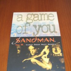 Cómics: THE SANDMAN Nº 16 (SERIE REGULAR) - PLANETA DEAGOSTINI - NEIL GAIMAN - A GAME OF YOU. Lote 39007878