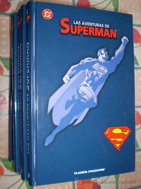 LAS AVENTURAS DE SUPERMAN (PLANETA DEAGOSTINI, JOHN BYRNE) TAPA DURA. CASI COMPLETA, 8 TOMOS DE 10 (Tebeos y Comics - Planeta)