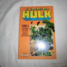 Cómics: EL INCREIBLE HULK TOMO 4 CONTIENE LOS NUMEROS 14 AL 19,COMICS FORUM. Lote 46791360