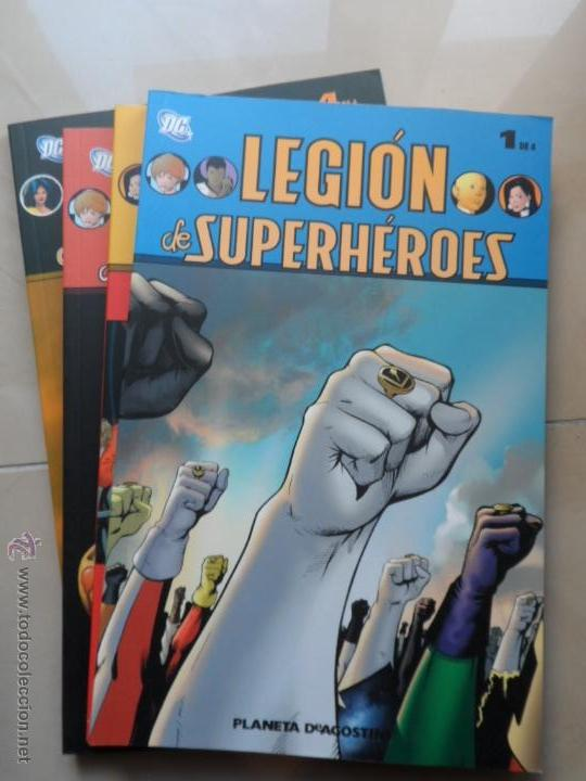 LEGION DE SUPERHÉROES - COLECCION COMPLETA 4 TOMOS - PLANETA - MARK WAID & BARRY KITSON (Tebeos y Comics - Planeta)