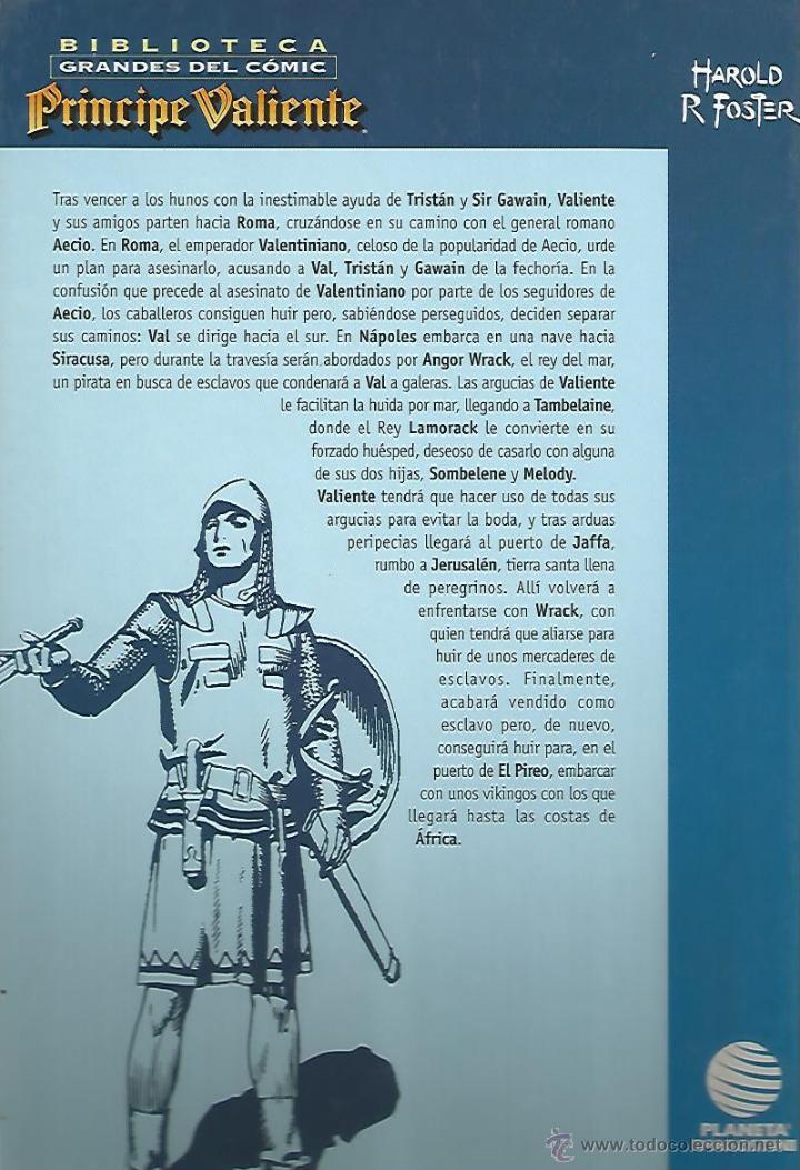 Cómics: PRÍNCIPE VALIENTE 1940-1942 - HAROLD FOSTER - BIBLIOTECA GRANDES DEL CÓMIC Nº3 - PLANETA - Foto 2 - 54764893