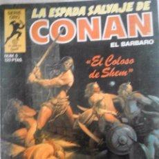Fumetti: COMIC LA ESPADA SALVAJE DE CONAN Nº 5 EL COLOSO DE SHEM SERIE ORO PLANETA COMIC. Lote 55555841