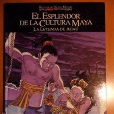 Cómics: EL ESPLENDOR DE LA CULTURA MAYA. LA LEYENDA DE AHAU. ANTONIO NAVARRO. RELATOS DEL NUEVO MUNDO. PLANE. Lote 55943402