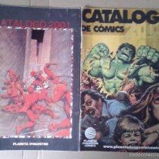 Cómics: LOTE DE CATÁLOGOS DE CÓMICS DE PLANETA DE AGOSTINI, AÑOS 2001 Y 2003.. Lote 56036874