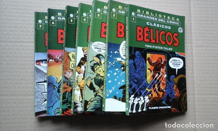 BIBLIOTECA GRANDES DEL COMIC CLASICOS BELICOS 7 TOMOS COMPLETA PLANETA 2004 (Tebeos y Comics - Planeta)