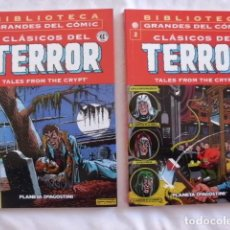 Cómics: CLASICOS DEL TERROR NUMERO 1 Y 2 BIBLIOTECA GRANDES DEL COMIC. Lote 70757325