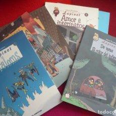 Cómics: LAPINOT 1, 2, 3, 4 SLALOMS, COSCORRONES, WALTER Y AMOR E INTERINATOS (LEWIS TRONDHEIM) ¡COMO NUEVOS!. Lote 149449152