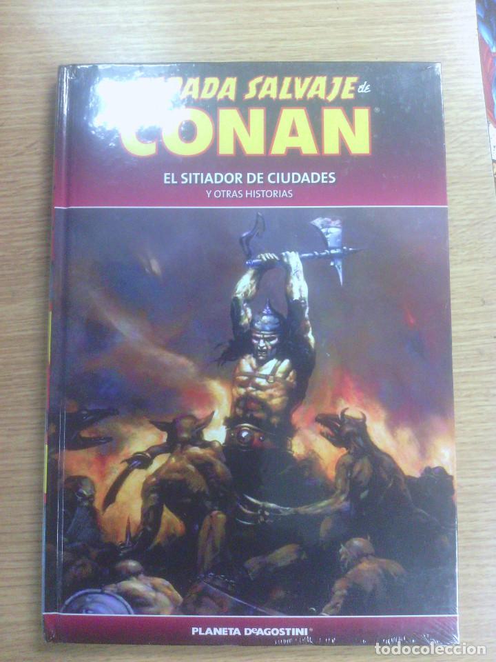 ESPADA SALVAJE DE CONAN COLECCIONABLE #55 EL SITIADOR DE CIUDADES Y OTRAS HISTORIAS (Tebeos y Comics - Planeta)