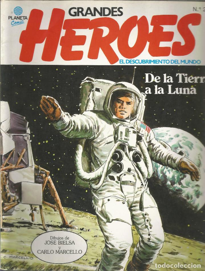 GRANDES HEROES · EL DESCUBRIMIENTO DEL MUNDO EDITORIAL PLANETA DE LA TIERRA A LA LUNA Nº 24 (Tebeos y Comics - Planeta)