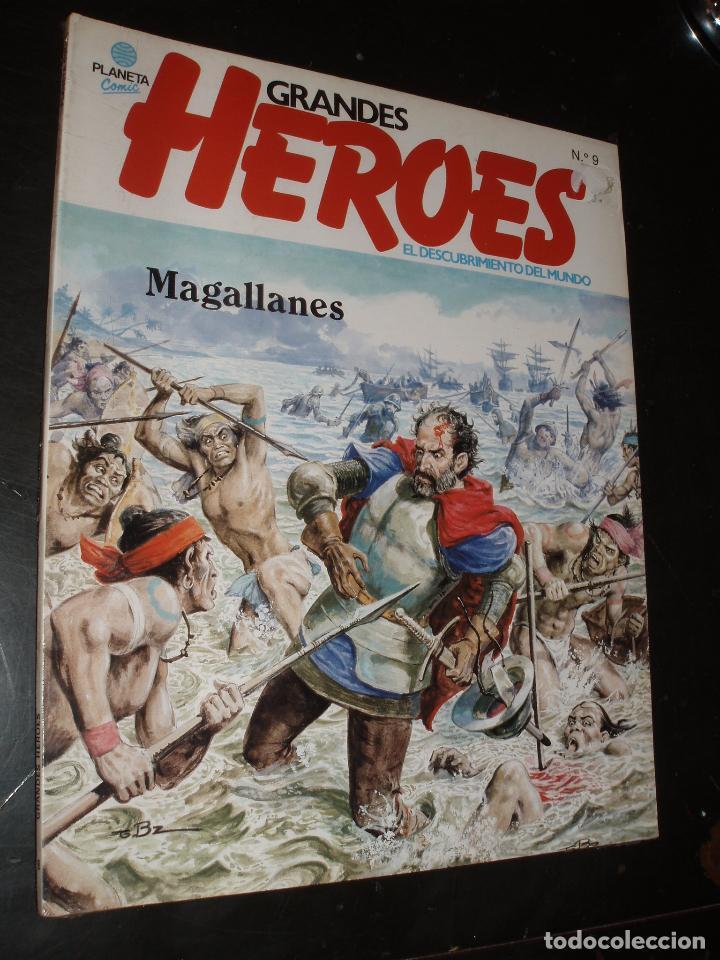COMIC GRANDES HEROES Nº 9 MAGALLANES ,PLANETA ,PRECINTADO (Tebeos y Comics - Planeta)