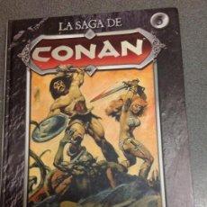 Comics : LA SAGA DE CONAN TOMO 5. LA CANCIÓN DE RED SONJA. ROY THOMAS. BARRY SMITH. TAPA DURA. Lote 95772975