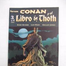Cómics - CONAN Y EL LIBRO DE THOTH Nº 3 DE 4. - EDITORIAL FORUM. PLANETA DEAGOSTINI. KURT BUSIEK. TDKC28 - 96177943