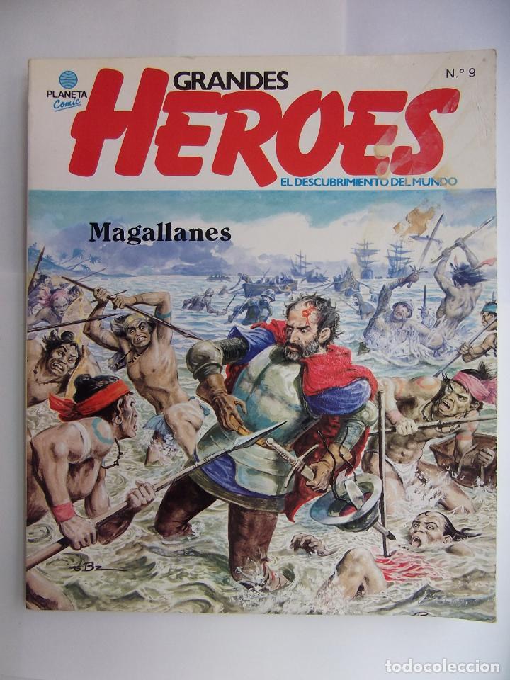 GRANDES HEROES. EL DESCUBRIMIENTO DEL MUNDO. Nº 9. MAGALLANES. AÑO 1981. TDKR48 (Tebeos y Comics - Planeta)