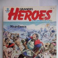 Cómics: GRANDES HEROES. EL DESCUBRIMIENTO DEL MUNDO. Nº 9. MAGALLANES. AÑO 1981. TDKR48. Lote 98471747