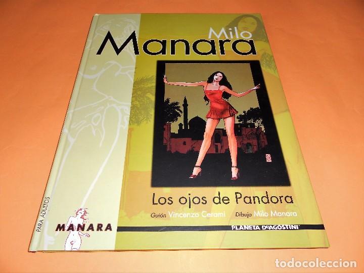 MILO MANARA. LOS OJOS DE PANDORA. TAPA DURA, RARO. MUY BUEN ESTADO. (Tebeos y Comics - Planeta)