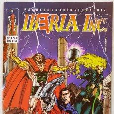 Cómics: SUPER HEROES ESPAÑOLES - IBERIA INC. Nº 1-2-3-4-5-6 + COMIC DATABOOK (COMPLETA). Lote 98987967