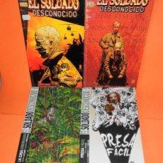 Cómics: EL SOLDADO DESCONOCIDO. JOSHUA DYSART. CUATRO TOMOS IMPECABLES. MAS REGALO DE LA OBRA DE GARTH ENNIS. Lote 113794991