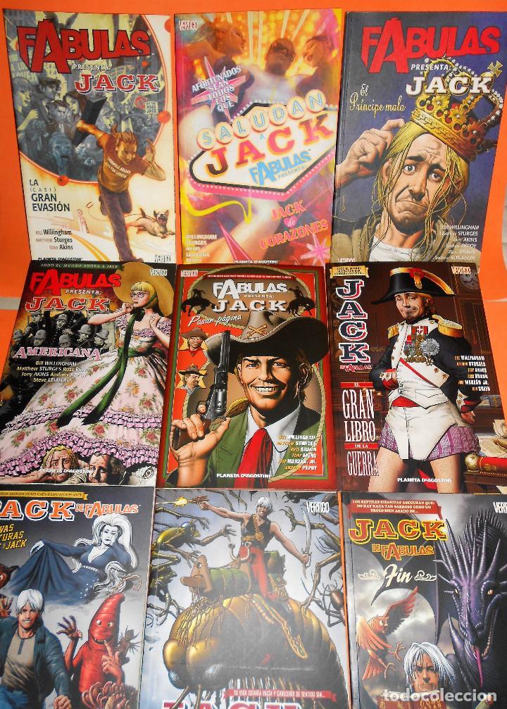 FABULAS PRESENTA : JACK ¡ COMPLETA 9 TOMOS ! BILL WILLINGHAM / VERTIGO PLANETA. IMPECABLES. (Tebeos y Comics - Planeta)