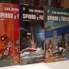 Cómics: LAS AVENTURAS DE SPIROU Y FANTASIO DE FOURNIER - VOL 1, 2 Y 3 COMPLETA. Lote 118205199