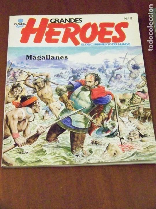 GRANDES HEROES EL DESCUBRIMIENTO EL MUNDO 9 (Tebeos y Comics - Planeta)