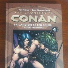Cómics: LAS CRÓNICAS DE CONAN PLANETA TOMO N° 4 LA CANCIÓN DE RED SONJA. Lote 128199007