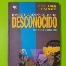 Cómics: DC CÓMICS INVESTIGADORES DE LO DESCONOCIDO DEBEN MORIR TOMO EN RÚSTICA DE 140 PÁGINAS. Lote 128398167