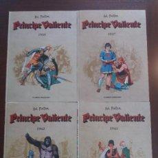 Cómics: LOTE 4 TOMOS PRINCIPE VALIENTE PLANETA AÑOS 1937, 1939, 1942 Y 1943 HAL FOSTER. Lote 129337027