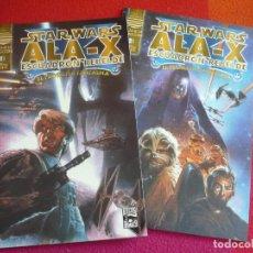 Cómics: STAR WARS ALA X ESCUADRON REBELDE PROBLEMA FANTASMA 1 Y 2 ¡COMPLETA! ¡MUY BUEN ESTADO! PLANETA . Lote 129574979