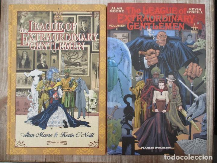 COLECCION COMPLETA THE LEAGUE EXTRAORDINARY GENTLEMEN DOS TOMOS ALAN MOORE KEVIN O´NEILL (Tebeos y Comics - Planeta)