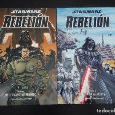Cómics: COMIC STAR WARS -REBELIÓN - PLANETA 2 NÚMEROS. Lote 132657650
