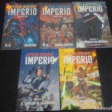 Cómics: COMICS STAR WARS - IMPERIO - 1 AL 5. Lote 132687234