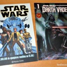 Cómics: LOTE 2 CÓMICS - STAR WARS + DARTH VADER - ED. PLANETA CÓMIC - AÑO 2015.. Lote 133380150