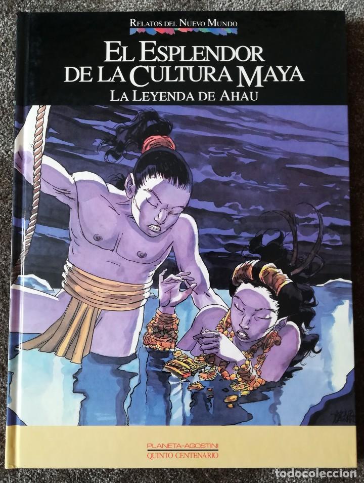RELATOS DEL NUEVO MUNDO -EL ESPLENDOR DE LA CULTURA MAYA - PLANETA QUINTO CENTENARIO. (Tebeos y Comics - Planeta)