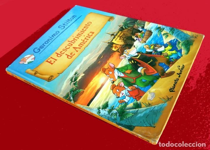 Cómics: GERONIMO STILTON, Nº 1- EL DESCUBRIMIENTO DE AMÉRICA-PLANETA 2009-FIRMADO Y DEDICADO POR TEA STILTON - Foto 2 - 137358234